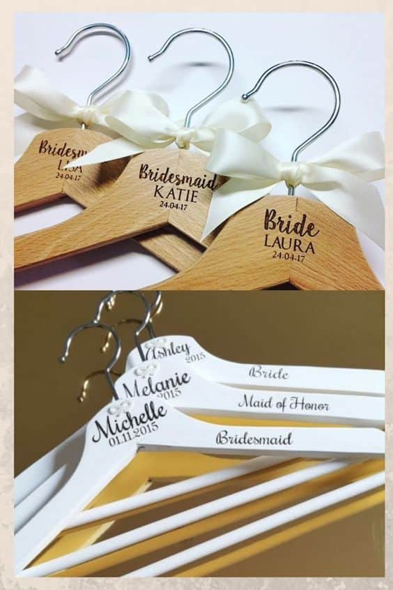 Personalised coat hangers, wedding gift to make and sell