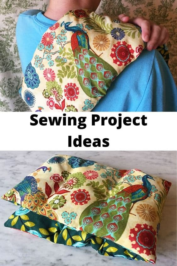 Microwave heating pad sewing project