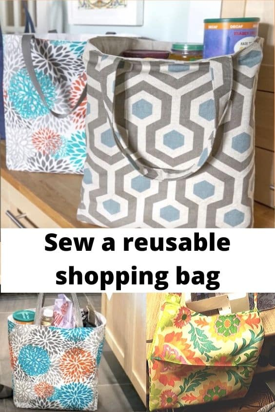 Sewing Pattern for reusable shopping bag