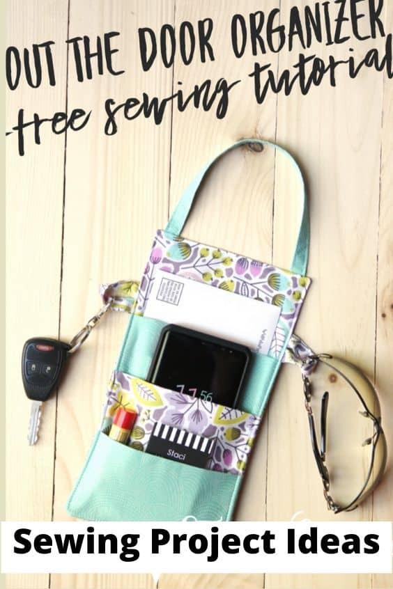 Out the door organizer, free sewing tutorial