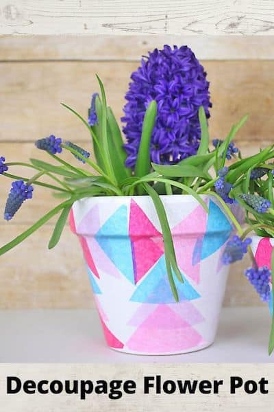 Decoupage Flower pot, DIY Homemade gifts