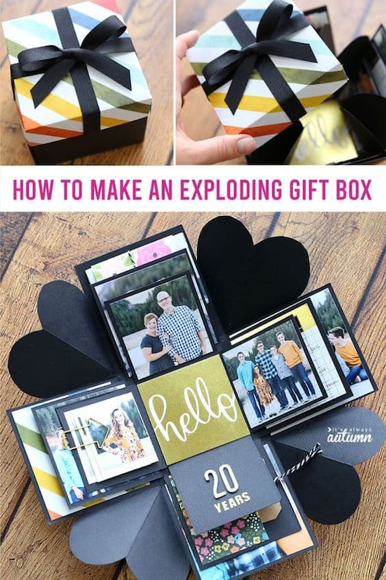 An exploding gift box DIY gift idea