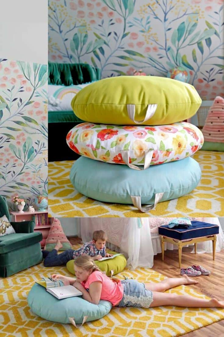 Sew A Floor Pillow Tutorial and Pattern