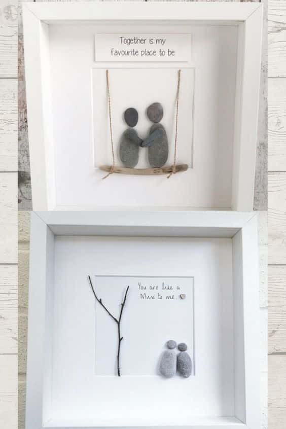 Pebble Art Handmade gifts, homemade pebble art decor