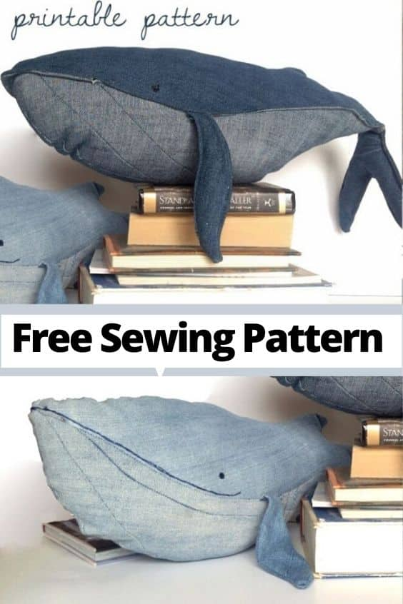 Whale Sewing project, free pattuern