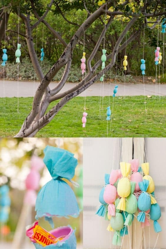 piñata style popping eggs for your easter egg hunt