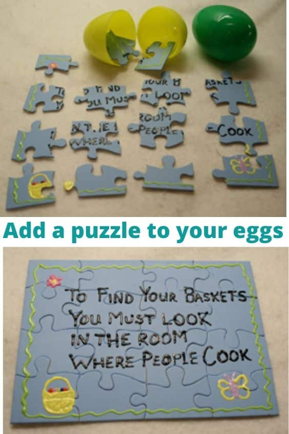 Add a puzzle to your eggs, easter egg hunt