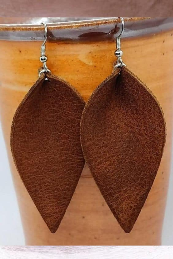 Easy DIY Leather Earrings To Make And Sell