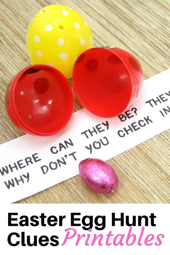 Easter egg clues printables