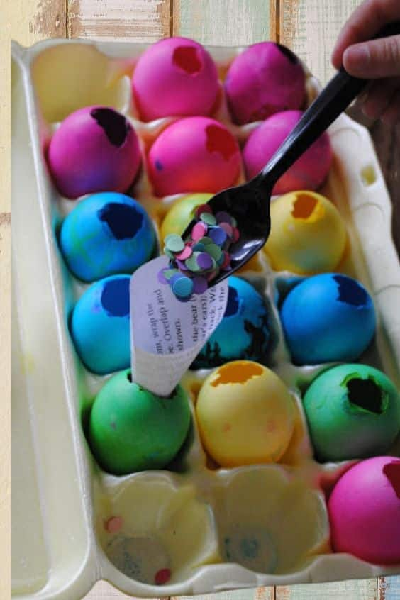 Confetti eggs or cascarones for your easter egg hunt