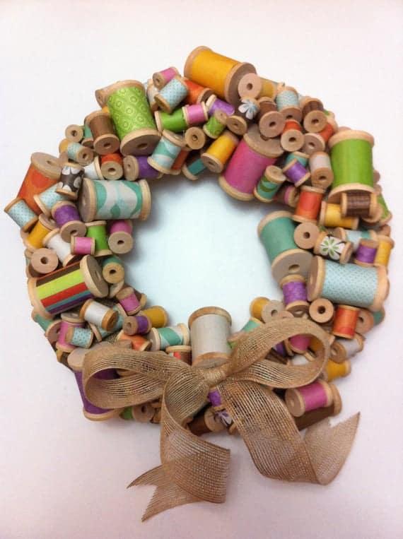 DIY Sewing Wreath