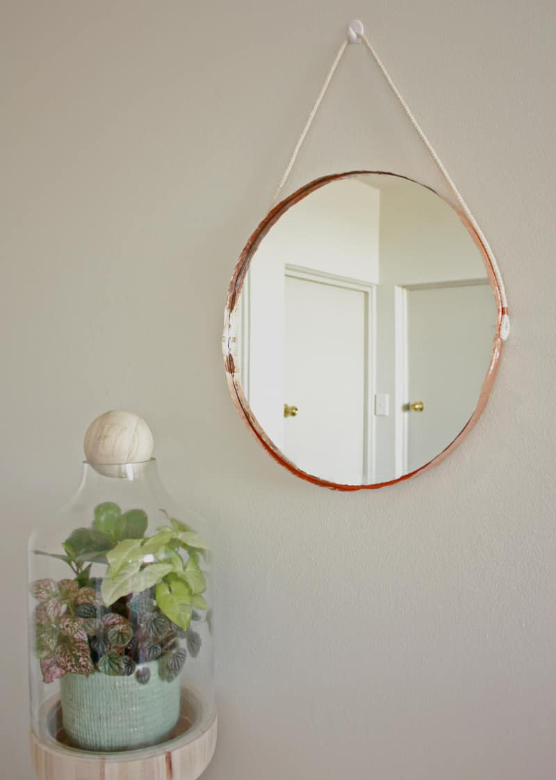 DIY Copper round mirror