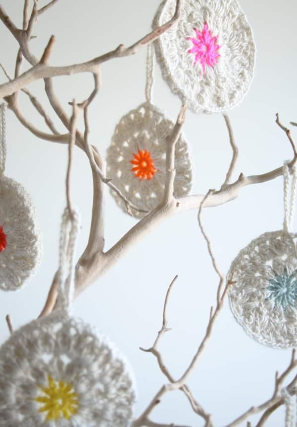 crocheted Xmas Ornaments