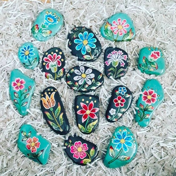 painted something painted pebbles