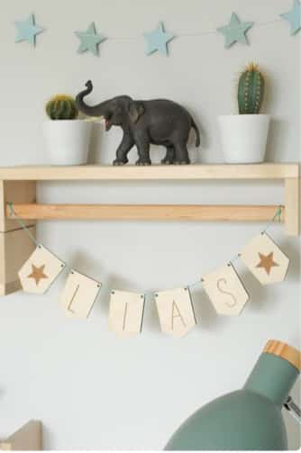 personalised wooden garland