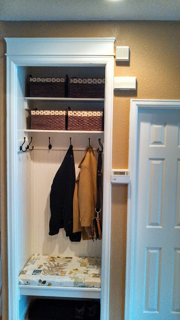 finished closet makeover